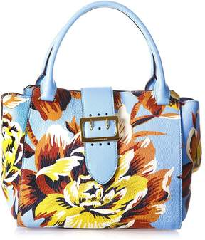 Burberry Embellished The Buckle Medium Leather Bag - SKY/MULTICOLOR - STYLE