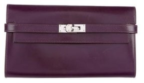 Hermes Box Kelly Longue Wallet - PURPLE - STYLE