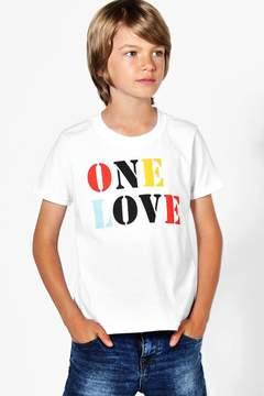 boohoo Charity Boys One Love Charity Tee