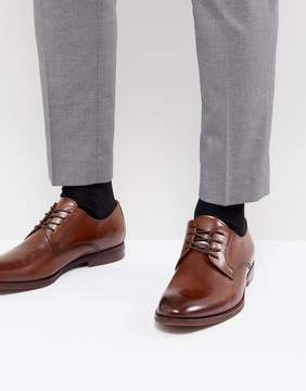 Aldo Yilaven Leather Derby Shoes In Tan
