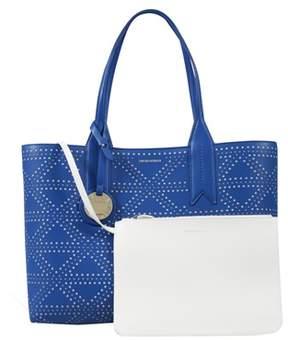 Emporio Armani Y3d081 Yh16a 88008 Cobalt Tote Handbag.