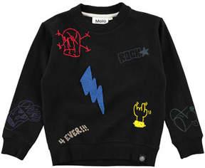 Molo Marin Mixed Patch Sweatshirt, Size 4-12