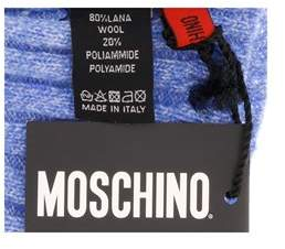 Moschino Cap01222 Wool Blend Chunky Ribbed Beanie Hat.