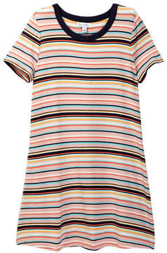 Love, Fire Striped Ringer T-Shirt Dress (Big Girls)