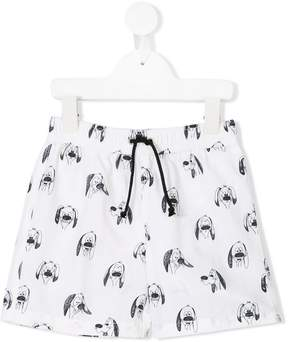 Emile et Ida dog printed swim shorts