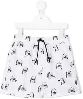Emile et Ida dog printed swim shorts