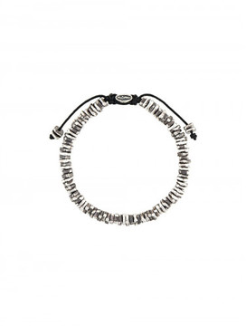 M. Cohen STACKED CARVED OXIDIZED DISC BRACELET