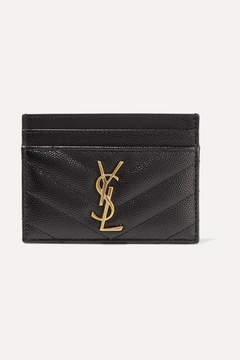 Saint Laurent Quilted Textured-leather Cardholder - Black - BLACK - STYLE