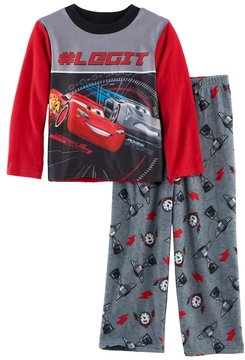 Disney Boys 4-10 Pixar Cars Fleece 2-Piece Pajama Set