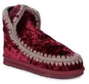 Mou Sheepskin Fur Velvet Ankle Boots