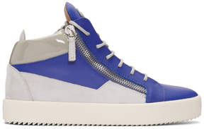 Giuseppe Zanotti Indigo and Grey May London High-Top Sneakers