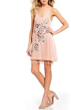 Chelsea & Violet C&V Embroidered Pearl Detail Slip Dress