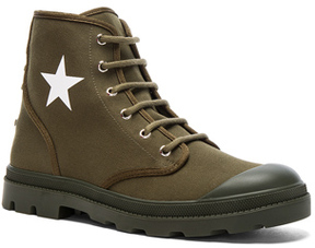 Givenchy Canvas Star Sneaker Boots in Green.