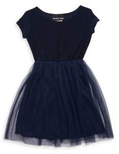 Un Deux Trois Girl's Cap-Sleeve Tulle Dress