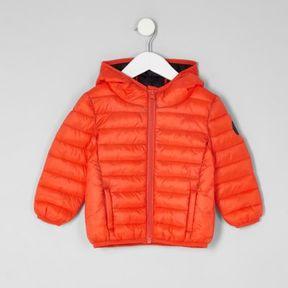 River Island Mini boys orange lightweight puffer jacket