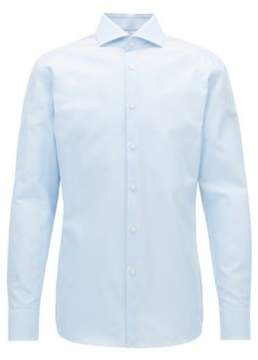 BOSS Hugo Check Cotton Dress Shirt, Slim Fit T-Christo 18 Light Blue