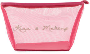 Neiman Marcus Kiss & Makeup Mesh Cosmetics Bag