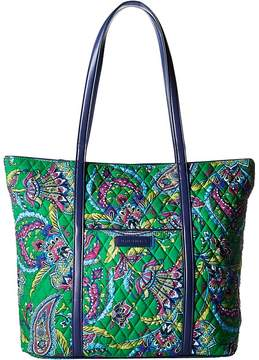 Vera Bradley Trimmed Vera Tote Handbags - EMERALD PAISLEY - STYLE