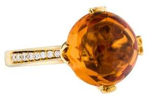 Frederic Sage 18K Diamond & Citrine Jelly Bean Ring