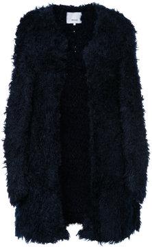 08sircus long-line textured cardigan