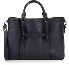 Longchamp Logo Leather Top Handle Bag