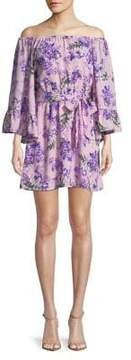 WAYF Floral Off-The-Shoulder Shift Dress