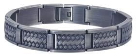 Armani Exchange Jewelry Mens Weave Bracelet In Grey Stainless Steel.