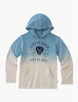 Lucky Brand LONG SLEEVE DIP DYED HOODY