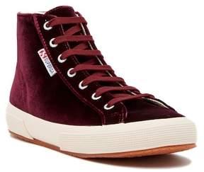 Superga Velvet Hi Top Sneaker