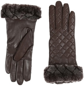 UGG Quilted Croft Leather Smart Gloves