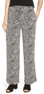 Chaus Women's Zebra Print Drawstring Waist Pants