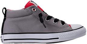 Converse Boys' Preschool Chuck Taylor Street Mid Casual Shoes