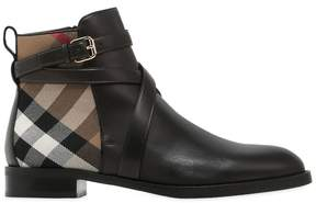 Burberry 20mm Classic Check Leather Ankle Boots