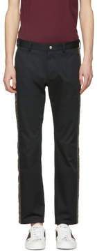 Dolce & Gabbana Black Side Snap Trousers