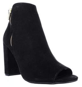 Material Girl Womens Carena Fabric Peep Toe Ankle Fashion Boots.