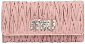 Miu Miu Quilted Leather Continental Wallet