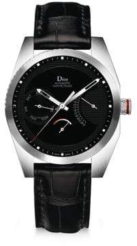 Christian Dior Chiffre Rouge Alligator Strap Timepiece