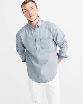 Abercrombie & Fitch Popover Denim Shirt