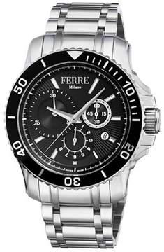 Ferré Milano Men's Swiss Made Swiss Quartz Two Tone Ss/ipbk Stainless Steel Bracelet Watch.