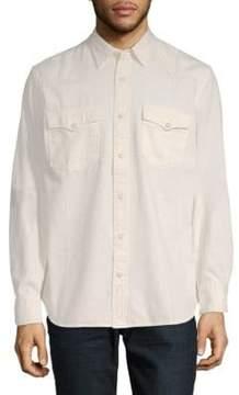 Jean Shop Cotton Button-Down Shirt