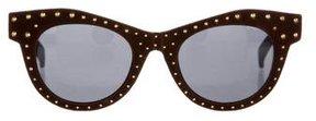 Italia Independent Studded Velvet Sunglasses