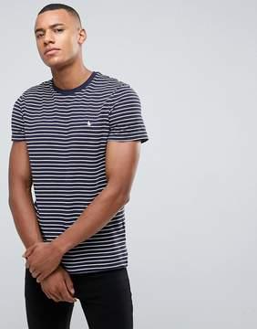 Jack Wills Clevedon Bretton Stripe Pique T-Shirt In Navy