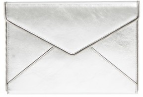 Rebecca Minkoff Leo Mirror Metallic Envelope Clutch - Metallic - METALLIC - STYLE
