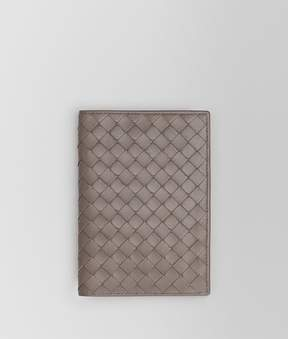 Bottega Veneta Steel Intrecciato Nappa Passport Case