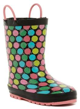 Western Chief Glitter Heart Reflective Waterproof Rain Boot (Toddler & Little Girls)