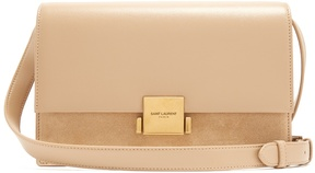 Saint Laurent Bellechasse medium leather and suede bag - NUDE - STYLE
