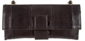 Gucci Snakeskin Bamboo Clutch - BLACK - STYLE