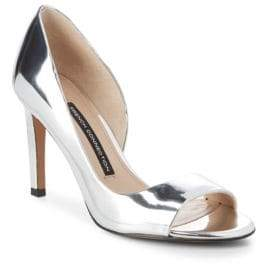 French Connection Metallic Peep Toe Pumps