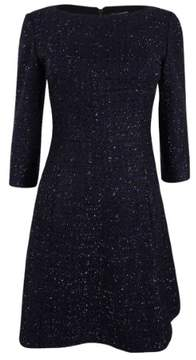 Vince Camuto Women's Metallic Tweed Fit & Flare Dress