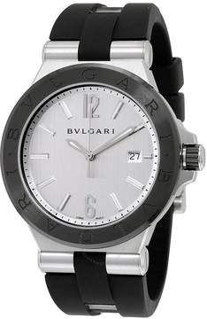 Bvlgari Diagono Silvered Dial Automatic Men's Watch